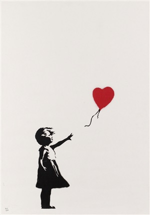 girl with balloon (edition of 150, signed) by banksy