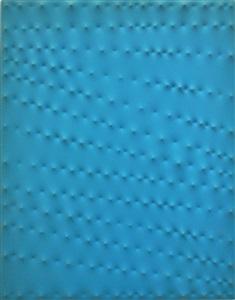 superficie turchese by enrico castellani