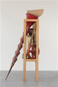 holzfigur mit bauernnase by bernhard luginbühl
