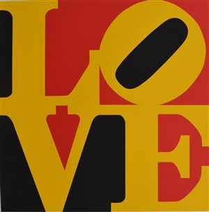 love (red, yellow and black) by robert indiana