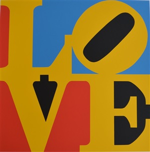 love (red, blue, black and yellow) by robert indiana
