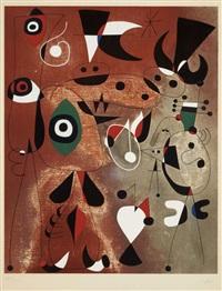 femmes, oiseaux, etoile (woman, birds, star) by joan miró