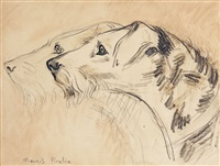 deux fox-terriers by francis picabia