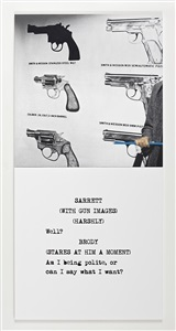 scene take guns by john baldessari