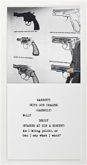 scene ( ) / take ( ) : guns by john baldessari