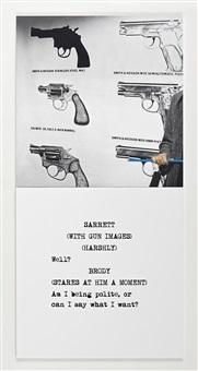 scene ( ) / take ( ) : guns by john baldessari