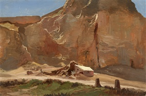 landscape in the orient by charles-francois eustache