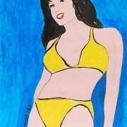 yellow bikini by marjorie virginia strider