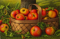 apples in a basket by levi wells prentice