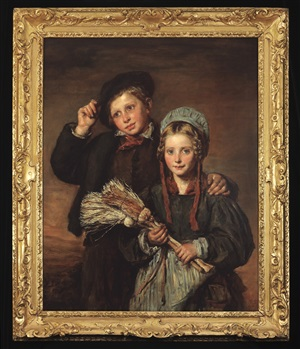 a peasant boy and girl by andrew geddes