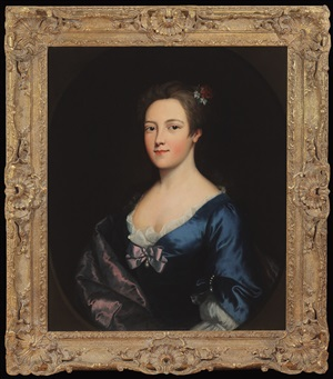 portrait of mary edwards by nathaniel hone