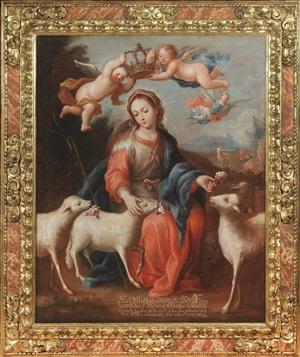"the divine shepherdess (""la divina pastora"") by josé joaquín magón"