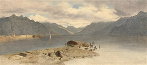 la tour, lake geneva by alexandre calame