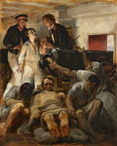 study for cholera aboard the melpomène by emile jean horace vernet
