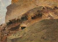 streams of lava by giuseppe de nittis