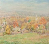 october morning (no.2) by willard leroy metcalf