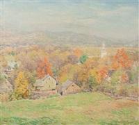 october morning (no.2) by willard leroy metcalf