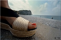 sandals a. etretat, for frankfurter allgemeine magazine by frank horvat