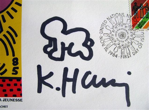radiant baby - 1985 u.n. envelope by keith haring