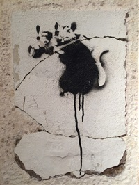 paparazzi rat by banksy