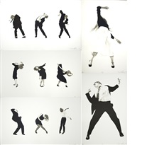 men in the cities (portfolio of 5 three-color lithographs) by robert longo