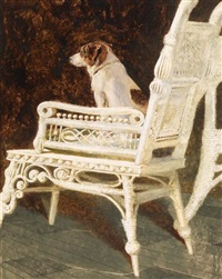 yolk and the wicker chair by jamie wyeth