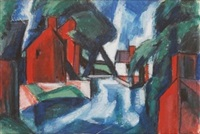 untitled (study for 'blue day') by oscar florianus bluemner