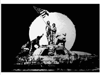 flag by banksy