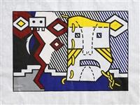 american indian theme v (c. 164) by roy lichtenstein