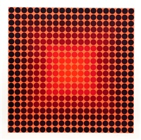 pokol, bf (permutations et algorithmes) 50 by victor vasarely