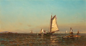 afternoon, portsmouth harbor by arthur quartley
