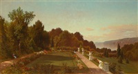 garden view—riverdale-on-the-hudson by george henry smillie