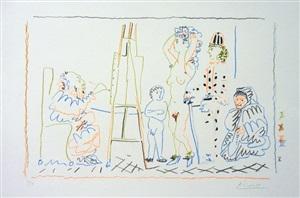 l'atelier du vieux peintre by pablo picasso