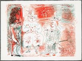 l'ecuyere et les clowns by pablo picasso