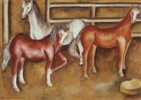 caballos en un potrero by maría izquierdo