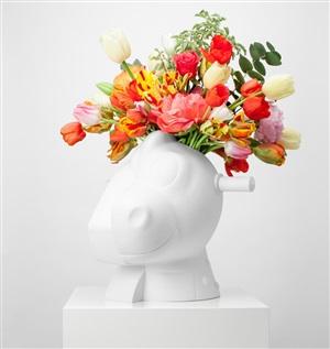 split rocker vase by jeff koons