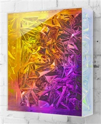 untitled (iridescent foil) by anselm reyle