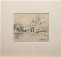 bridge scene by louis michel eilshemius