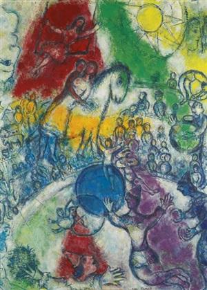cirque au village by marc chagall