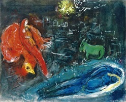 les ponts de la seine by marc chagall