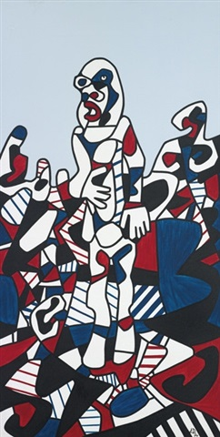 promenade agreste by jean dubuffet