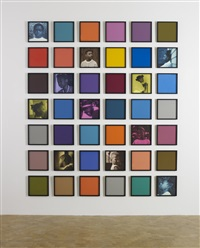 untitled (colored people grid) by carrie mae weems