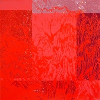 artificial landscape- geometric red by kim jongsook