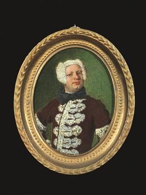 portrait of a bewigged gentleman by vittore giuseppe ghislandi (fra' galgario)