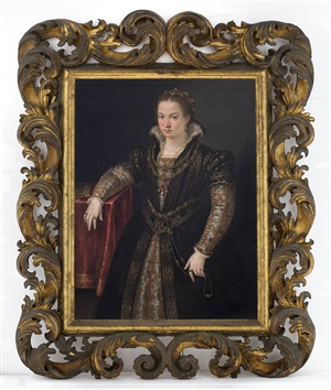 portrait of a lady of the gonzaga or sanvitale family by lavinia fontana