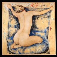 le sofa blue by alain bonnefoit
