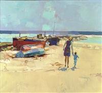 camminando sulla spiaggia by nicola simbari
