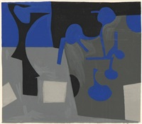 composition (blue, black, gray) by judith rothschild