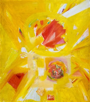 yellow abstract by john grillo