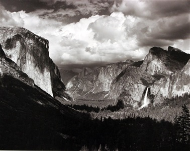 thunderstorm yosemite valley by ansel adams